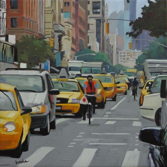 Range of Arts - Painting - Angie Brooksby - Bike Lane
