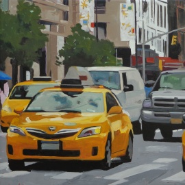 Range of Arts - Painting - Angie Brooksby - Charlie's Cab