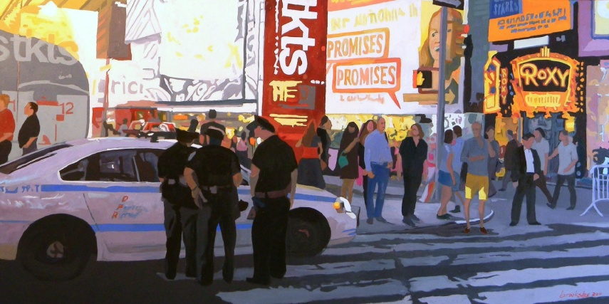 Range of Arts - Painting - Angie Brooksby - Time Square Promises