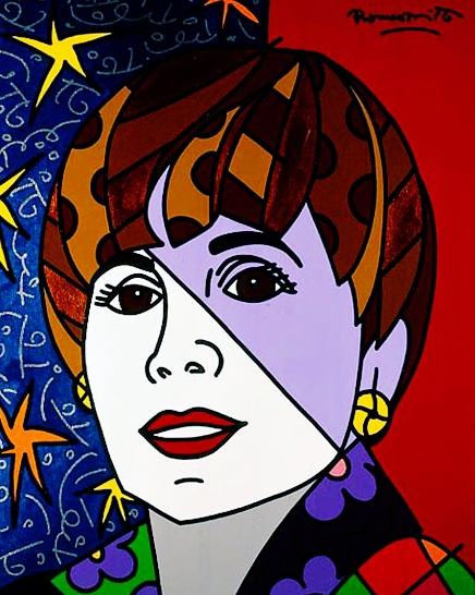 Range of Arts - Romero Britto - Original Portraits Paintings - Adrienne
