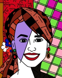 Range of Arts - Romero Britto - Original Portraits Paintings - Alina Shriver