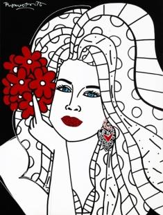 Range of Arts - Romero Britto - Original Portraits Paintings - Beautiful Elaine