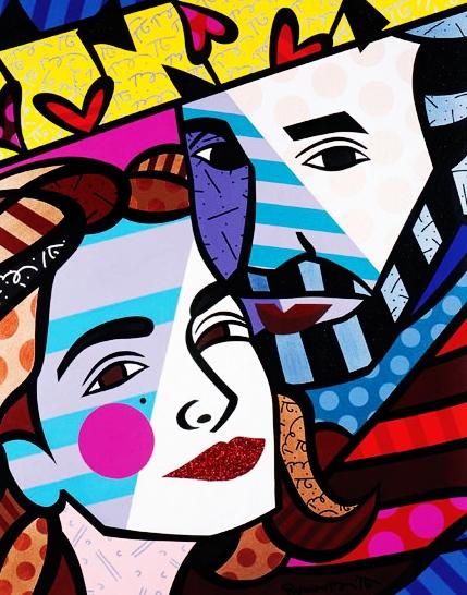 Range of Arts - Romero Britto - Original Portraits Paintings - Emilio and Gloria Estefan
