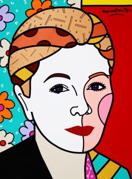 Range of Arts - Romero Britto - Original Portraits Paintings - Farah Pahlovi