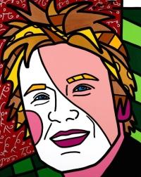 Range of Arts - Romero Britto - Original Portraits Paintings - Jamie Does Miami