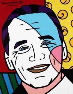 Range of Arts - Romero Britto - Original Portraits Paintings - John Jorge Does Miami