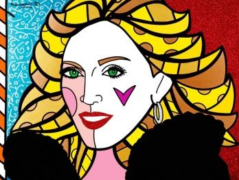 Range of Arts - Romero Britto - Original Portraits Paintings - Madonna