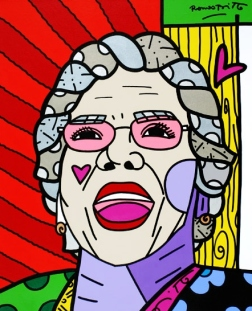 Range of Arts - Romero Britto - Original Portraits Paintings - Mama Lourdes