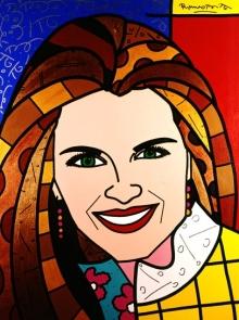 Range of Arts - Romero Britto - Original Portraits Paintings - Maria Shriver