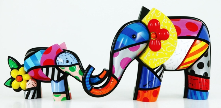 Range of Arts - Romero Britto - Sculpture - Mother's Love