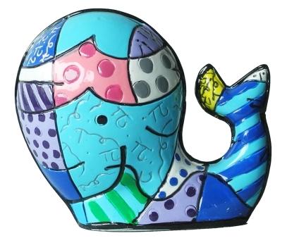 Range of Arts - Romero Britto - Sculpture - Mini Whale