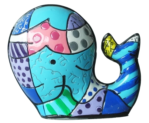 Range of Arts - Romero Britto - Sculpture - Mini Whale