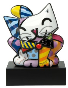 Range of Arts - Porcelain Sculpture - Romero Britto - Blue Cat