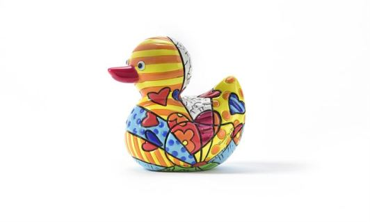 Range of Arts - Sculpture - Romero Britto - Mini Duck New Day