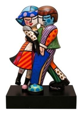 Range of Arts - Porcelain Sculpture - Romero Britto - Cheek To Cheek