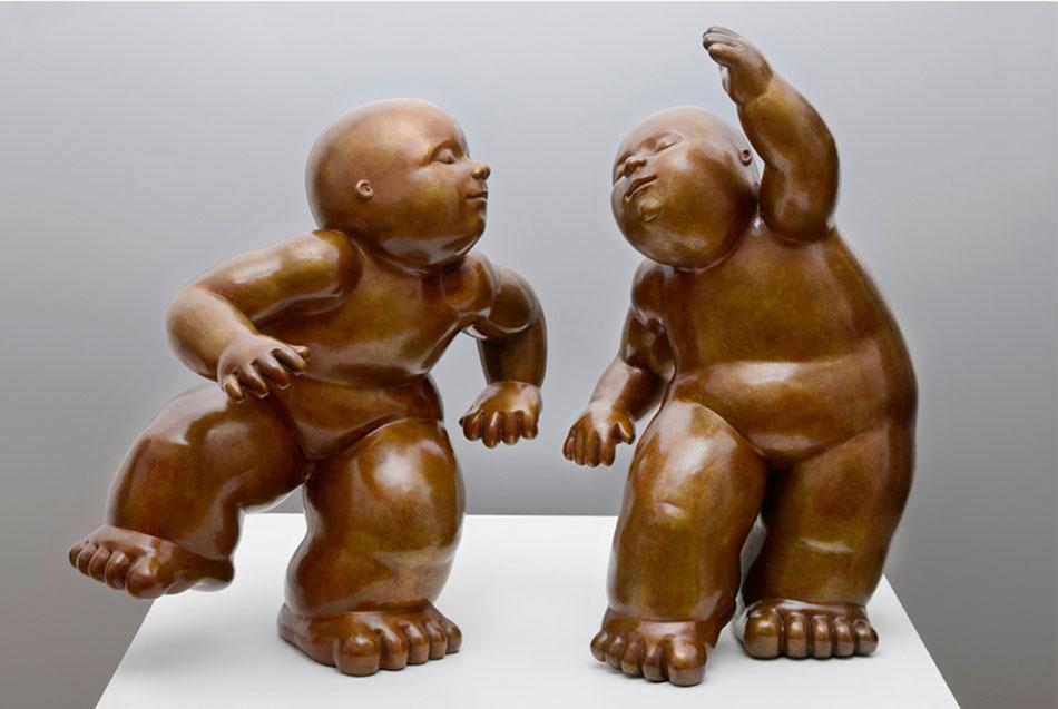 mariela garibay sculpture bronzes happiness babies