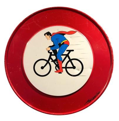 Range of Arts I Painting I Thierry Beaudenon I Superman On Bike