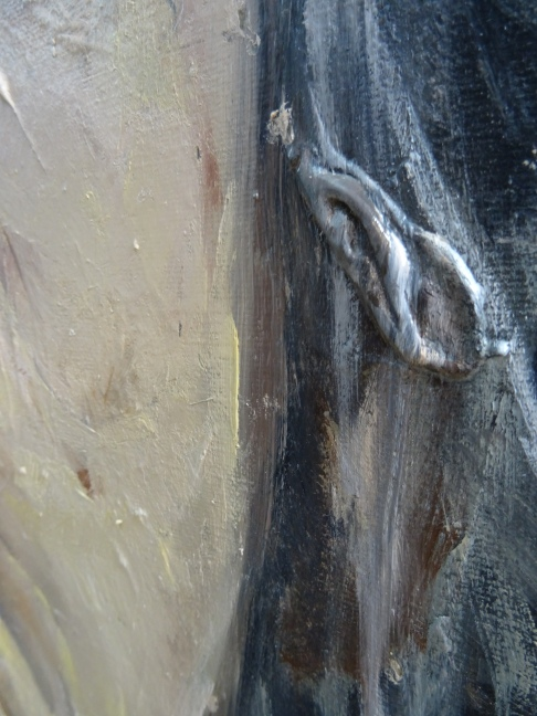 Range of Art I Painting I Nathan Chantob I Old Lady detail