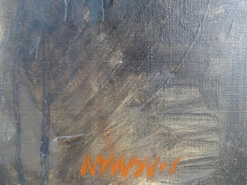 Range of Art I Painting I Nathan Chantob I Old Lady signature
