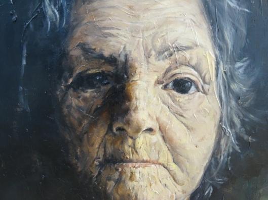 Range of Art I Painting I Nathan Chantob I Old Lady visage