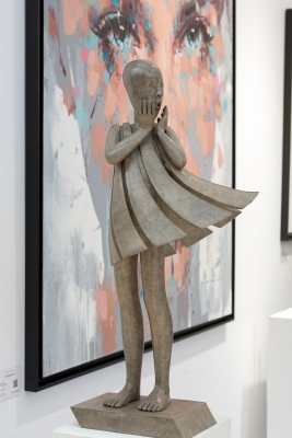 art gallery london art and antiques art fair olympia collection mariela garibay alexandra gestin russell powell lolek jimmy law nathan chantob sculpture painting